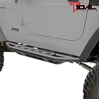 Tidal Nerf Bars Side Step Armor Rock Guard Tubular Fit for 87-06 Jeep Wrangler TJ YJ