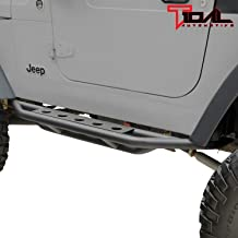 Rampage Products Black Side Nerf Bars for 1987-2006 Jeep Wrangler TJ YJ