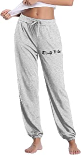 Women's Casual Sweatpants Thug Life Fitness Training Jogger Pant