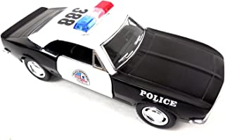 1967 5-inch Kinsmart Chevy Camaro Z28 Black & White Police 1/37 Scale with Pullback Action