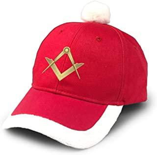 KLing Santa Baseball Cap Freemason Masonic Symbol Christmas Caps Red