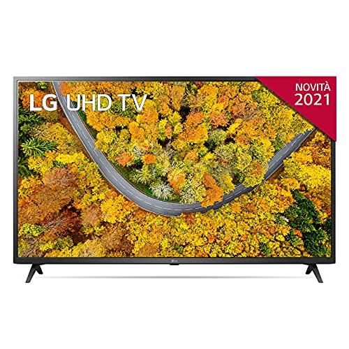 """LG 55UP75006LF Smart TV LED 4K Ultra HD 55"""" 2021 con Processore Quad Core 4K, Wi-Fi, webOS 6.0, FILMMAKER MODE, Game Optimizer, Compatibile con Google Assistant e Alexa, 2 HDMI 2.0"""