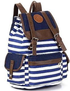 حقيبة ظهر قماشية للجنسين حقيبة مدرسية