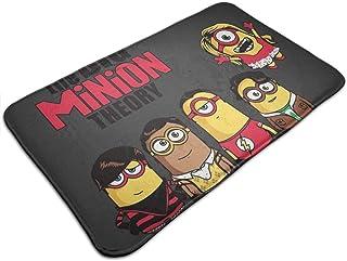 HUTTGIGH The Big Bang Minion Theory - Alfombrilla antideslizante para puerta de entrada, alfombra de baño, alfombra de coc...