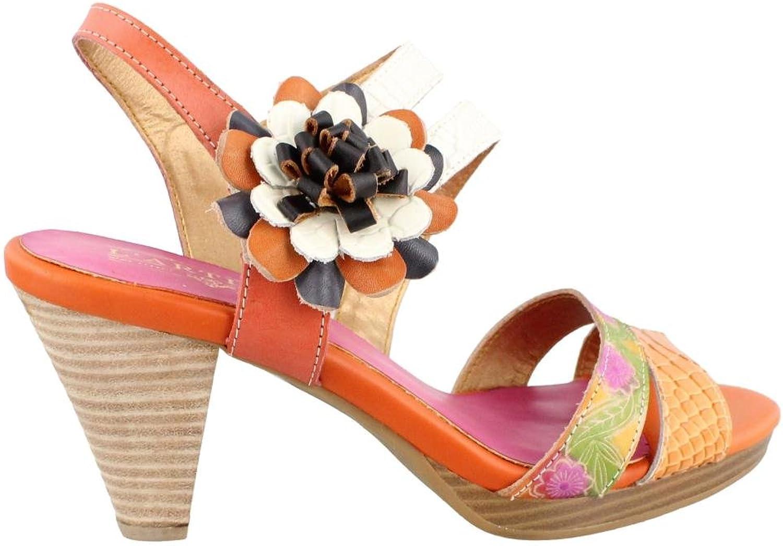 Spring Step Plato orange Leather Sandal 40 M EU