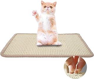 JSPYFITS 猫 爪研ぎ マット 人気 爪とぎ猫 耐久 つめとぎ 高密度 ストレス解消 天然サイザル麻 おもちゃ家具やソファ保護 運動不足改善 缓解压力 猫 ネコ用品 20PCS 固定ツイストピン付き スクラッチ 猫 ホワイト 40*60cm