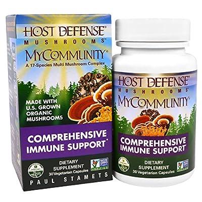 Fungi Perfecti, Mushrooms, MyCommunity, Comprehensive Immune Support, 30 Veggie Caps