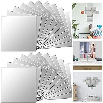 Spiegel Wandaufkleber Selbstklebend Badezimmer Küche 30 x 30cm Bequem