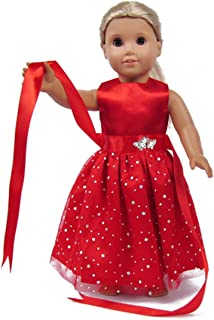 american girl doll red dress