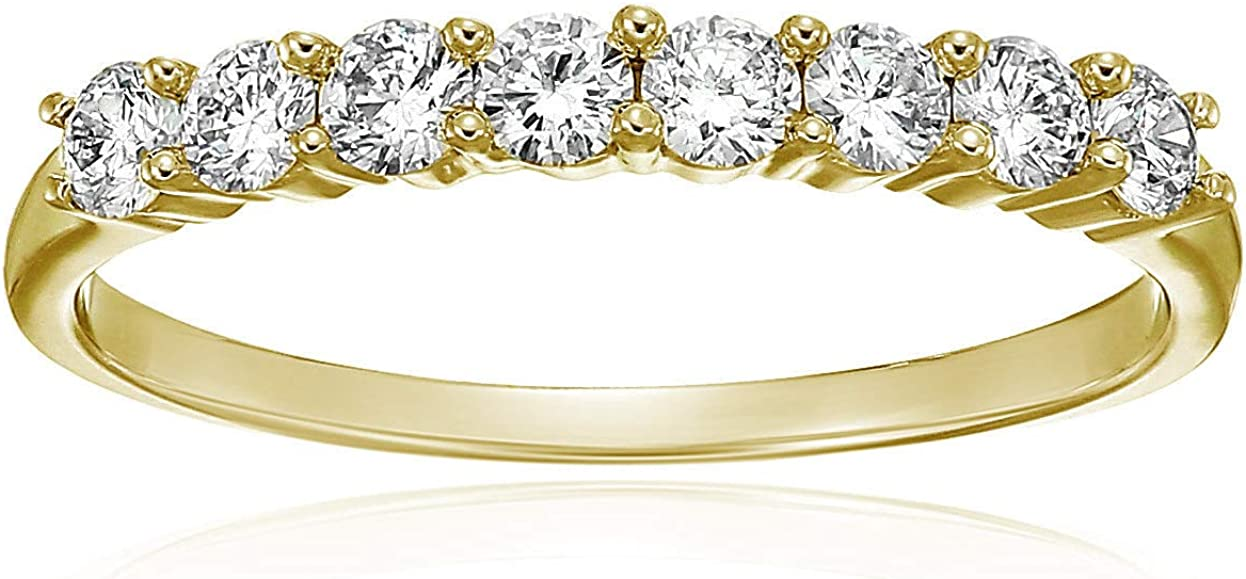 Vir Jewels 1 2 cttw Diamond Wedding 8 14K Sales Oakland Mall St in Yellow Band Gold
