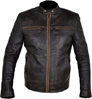MSHC Hunger Games Wes Bentlay Real Brown Leather Jacket XXS-5XL Distress Brown