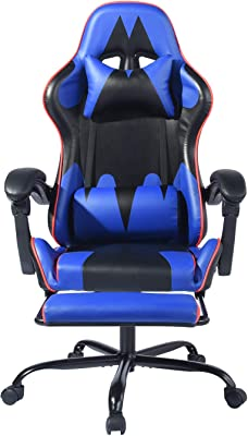 FurnitureR Gaming Computer Chair Ergonomic Lifting Adjustable Swivel Chair for Home Office (with Footrest)