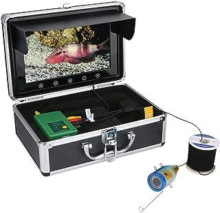 Fish Finders Buscador de Peces de 10 Pulgadas, 15 Piezas de LED Blancos + 15 Piezas de lámpara de LED infrarroja Cámara de...
