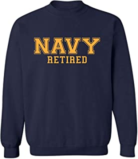 ZeroGravitee Navy Retired Gold Logo Military Style Physical Training Crewneck Sweatshirt