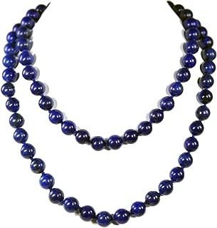 """Long 18/"""" 24/"""" 36/"""" 50/"""" 8 mm 10 mm Lapis Lazuli Ronde Pierres Précieuses Perles Collier"""