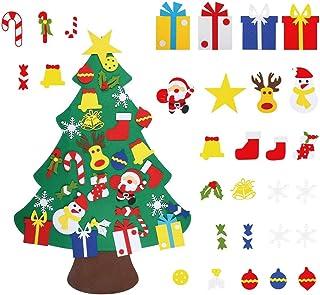 GONFOWE Fieltro Árbol de Navidad,3.2ft DIY Árbol de Navida