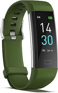 RNNTK Tomar Una Temperatura Pulsera Inteligente Impermeable Diseño Reloj Bluetooth, Smartwatch Fitness Tracker (con Frecuencia Cardíaca Y Monitor De Sueño) Reloj Inteligente,Caloría-Y