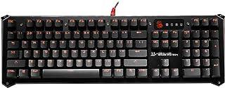 BLOODY BLOODY B840 Light Strike LK Optical Gaming Keyboard – Orange LED Backlit – LK Blue Tactile Switch - Gold
