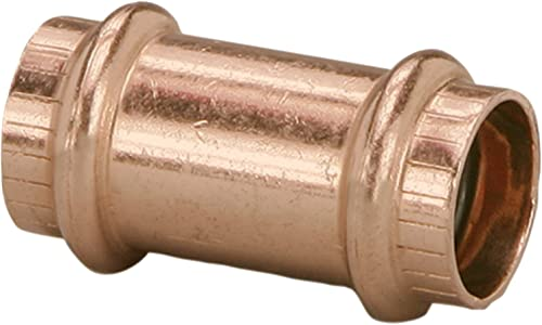 2021 Viega lowest 78177 ProPress Zero Lead Copper Coupling without Stop 3/4-Inch P x wholesale P, 10-Pack online