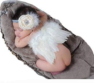 Baby Girl Headband With Angel Feather Wing Costume Photo Prop Outfit