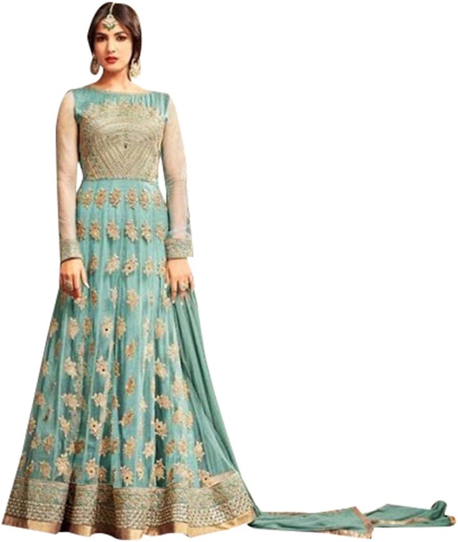 Bollywood Collection Anarkali Salwar Kameez Suit Ceremony Punjabi Muslin 639 3