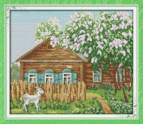 Bordado Kit de punto de cruz para Principiante Casa Makita Imágenes DIY Kit de punto de cruz para adulto niños la Regalo (11CT Preimpreso Tela)40x50cm decoración del hogar