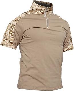 TACVASEN Men's Summer Military Rapid Assault Sleeve Slim Fit Short Sleeve Combat T-Shirt