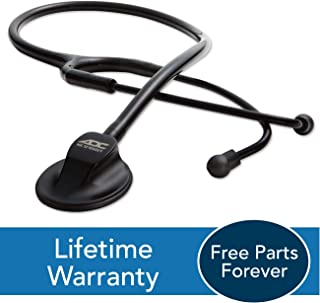 ADC Adscope 615 Platinum Professional Clinician Stethoscope with Tunable AFD Technology, 30.5 inch Length, Tactical All Black