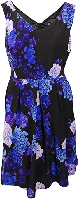City Chic Women's Apparel Women's Plus Size Dress Hydrangea