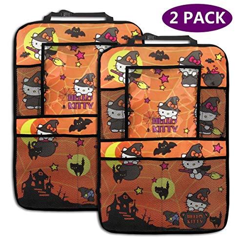 TBLHM Hello Kitty Lot de 2 Sacs de Rangement pour siège arrière de Voiture avec Support pour Tablette