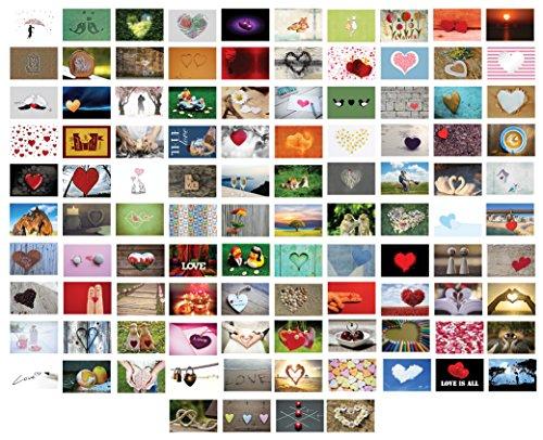 104 Stück Postkarten Hochzeit/Liebespostkarten/Hochzeitsspiel : Ein Jahr lang jede Woche ZWEI Postkarten an das Brautpaar