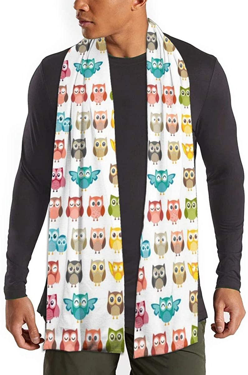 Mens Soft Scarf For Autumn And Winter,Simple And Elegant Long Thick Scarf(Cute Pigs Cartoons Flying On Balloon)
