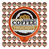Fresh Roasted Coffee LLC, Ethiopian Yirgacheffe Coffee Pods, Medium Roast, 72 Count