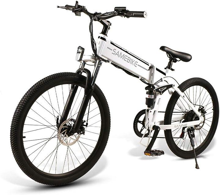 Bicicletta elettrica da 26 pollici pieghevole da montagna 48v 500w per adulti  - samebike B08LFZ7GQH