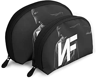 Koucas NF Rapper Logo (2) Logo Print 2Pcs Portable Bags Clutch Pouch Makeup Bag