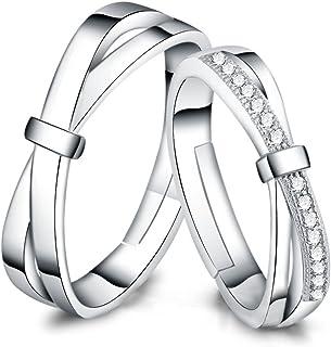 宝石1号 S925银 个性开口戒指 可调节 开口 情侣对戒 戒指 对戒 礼物 生日礼物 情人礼物 节日礼物 圣诞礼物(3款可选)