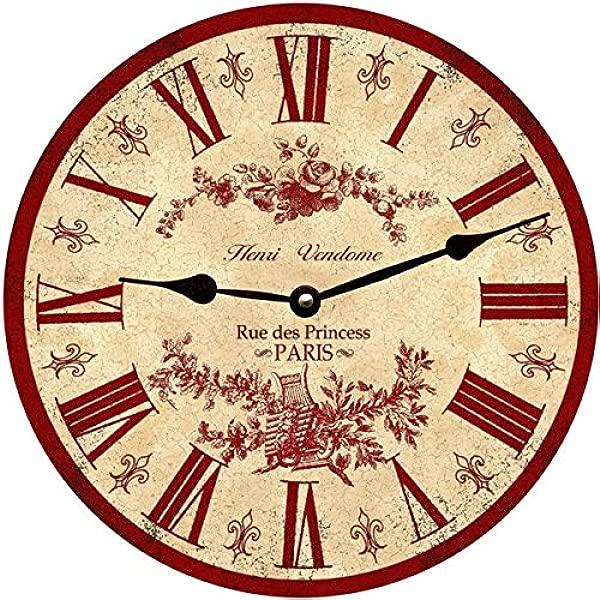 M Dallas Co Red French Wall Clock Paris Clock 10