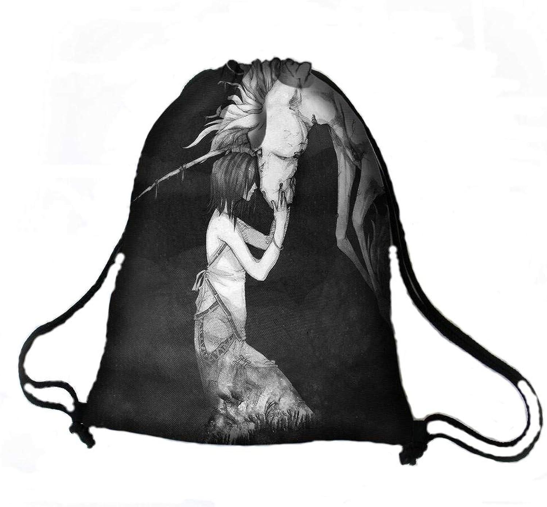 Rucksack Sack Acord Stoff Kodura Stofftasche mit Motiv Einhorn Innentasche wasserdicht Pferd Outdoor wandern B079KKSHP8  Verrückter Preis