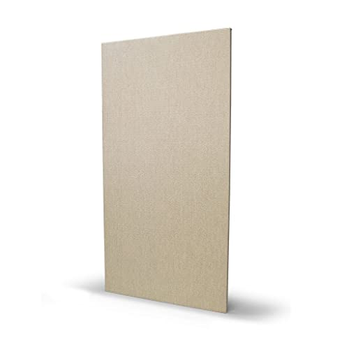 """Acoustical Sound Absorbing Wall Panels, Formaldehyde Free, 1"""" x 24"""" x 48"""", 6# density Lot of 10 (Natural)"""