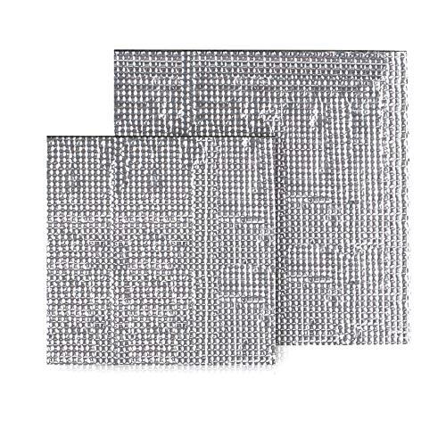 Qooltek 2pcs 300 * 300mm Tappetino isolante autoadesivo in foglio di schiuma, accessori per stampante 3D, tampone isolante autoadesivo, tempo di riscaldamento ridotto