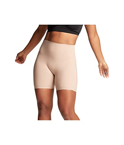 Yummie Bonded Shaping Caroline Mid-Waist Shorts (Almond) Women
