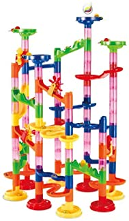 Marble Run Race Coaster Set, Elongdi Marble Run Railway Toys [ 105 Pieces ] Construction Toys Building Blocks Set Marble R...