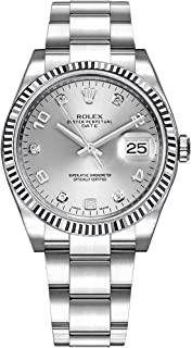 Rolex Oyster Perpetual Date 34 115234 Silver Dial with Diamonds Luxury Watch