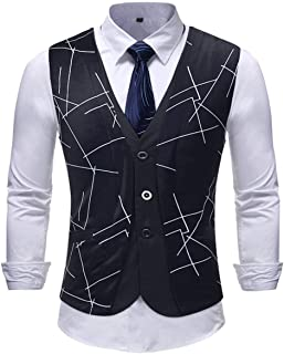 Men's Floral Printed Suit Dress Vest Wedding Vest Modern Casual Men Men Tuxedo Vest Waistcoat Slim Fit Men's Vest