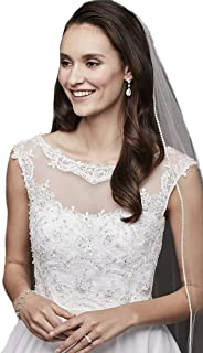 Sparkling Rhinestone Edged Cathedral Wedding Veils For bridal 223