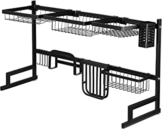 Multifunctional Kitchen Over Sink Dish Drying Rack Stainless Steel Storage Shelf Organiser
