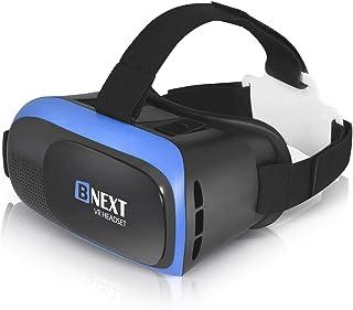 Casque Réalité Virtuelle, Casque VR Compatible avec iPhone & Android – Lancez Les Meilleures Applications/Jeux et Regardez...