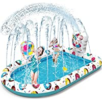 Vatos 3 in 1 Unicorn Splash Pad Inflatable Sprinkler Pool