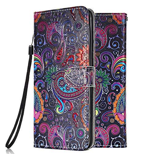 Funda Libro para Samsung Galaxy S6 Edge Carcasa de Cuero PU Premium Flip Wallet Case Cover con Tapa Teléfono Piel Tarjetero - Encaje de Colores