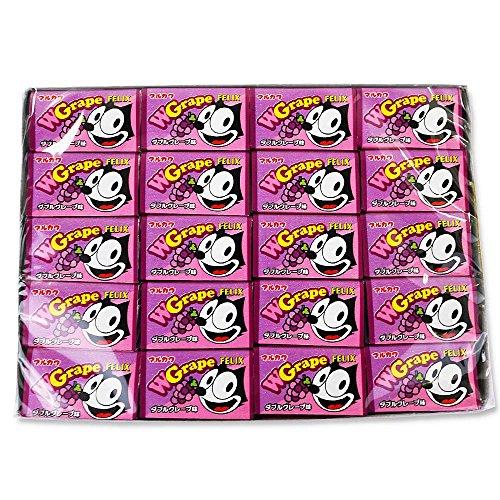 駄菓子のまとめ買い・ガム系の駄菓子 マルカワ フィリックスガム ダブルグレープ味(55個プラス当たり5個)